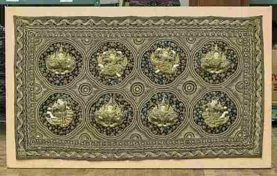 Large Burmese Embroidered Kalaga Panal