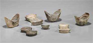 Eight Chinese Silver Sycee Ingots