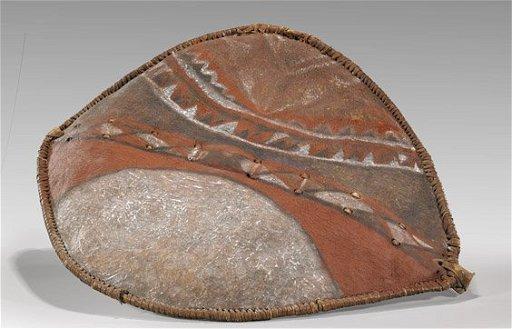 Old African Maasai Warrior Shield