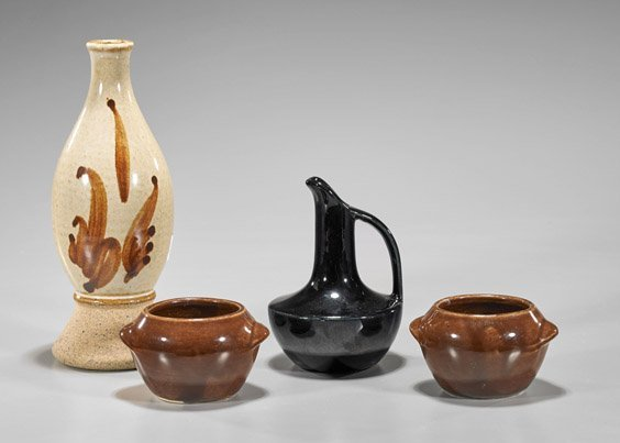 Four Vintage American Glazed Ceramics