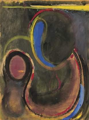 'TORSO II' GOUACHE BY MAX WEBER