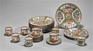 Old Chinese Rose Medallion Porcelain Dishes