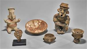 Six Pre-Columbian Pottery Items