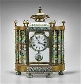 Old Chinese Cloisonné Enamel Clock