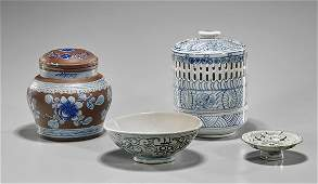 Four Chinese Blue & White Porcelains