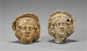 Two Greco-Roman Terracotta Female Heads