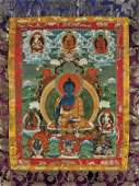 ANTIQUE SINO-TIBETAN THANGKA