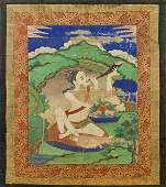 Antique SinoTibetan Painted Thangka Bodhisattva