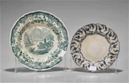 Two Antique English Transfer Print Plates