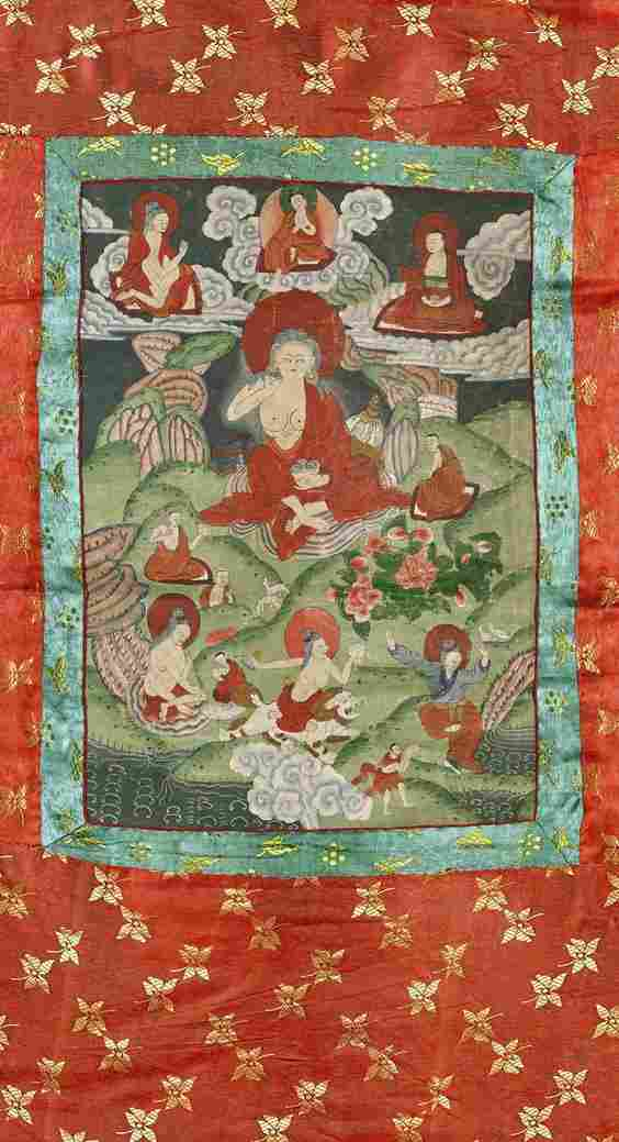 Old Sino-Tibetan Thangka: Milarepa