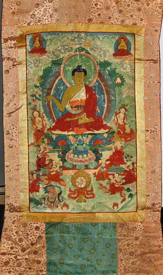 Old Sino-Tibetan Thangka: Amitabha