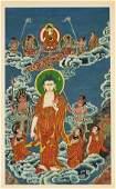 SinoTibetan Painted Thangka Amitabha