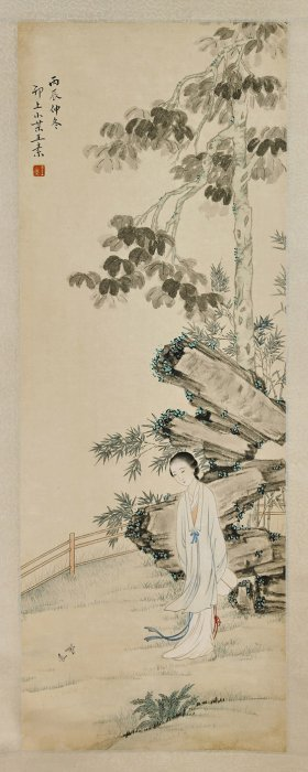 Four Chinese Paper Scrolls: Figures