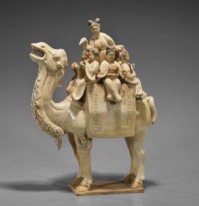 Four Ear;y-style Glazed Items: Camel & Ladies