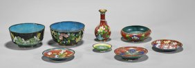 Eight Old & Antique Chinese Enamels