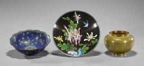 Eight Antique Chinese Cloisonné Enamels