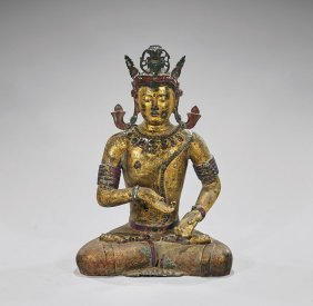 Large Chinese Gilt Bronze Bodhisattva