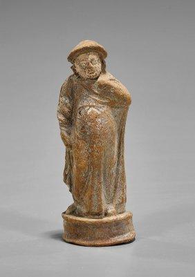Greek Terracotta Figure Of An Actor