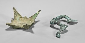Two Roman Bronze Vessel Attachments