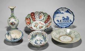 Six Old & Antique Japanese Porcelains