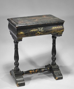 Antique Japanese Lacquer Sewing Table