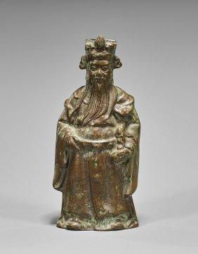 Old Chinese Bronze Standing Lu