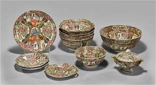 Eleven Chinese Rose Medallion Porcelains