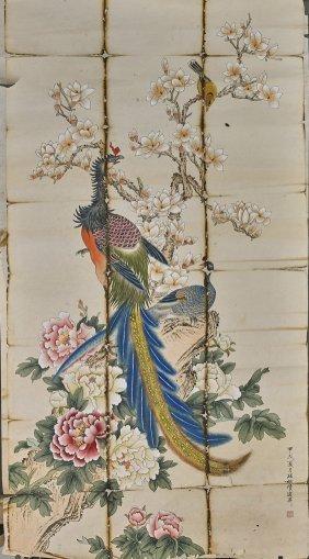 Seven Chinese Paper Items: Scrolls & Fan