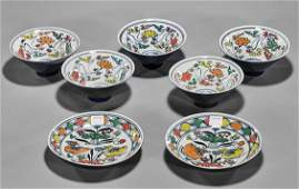 Chinese Porcelains: Two Dishes & Five Bowls