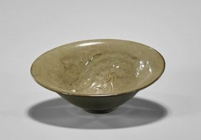 Yuan-style Moulded Celadon Bowl