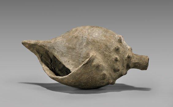 ANATOLIAN TERRACOTTA MODEL OF A CONCH SHELL