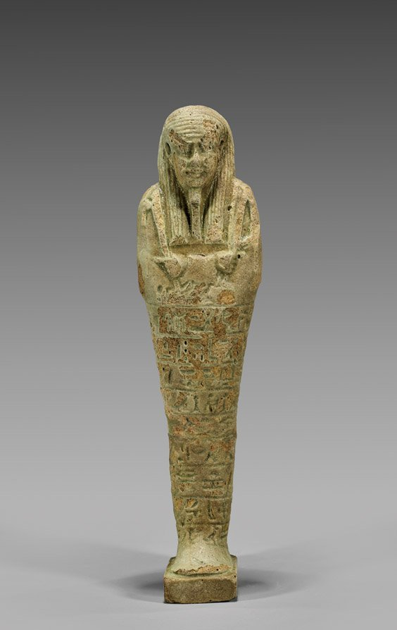 EGYPTIAN GREEN FAIENCE USHABTI