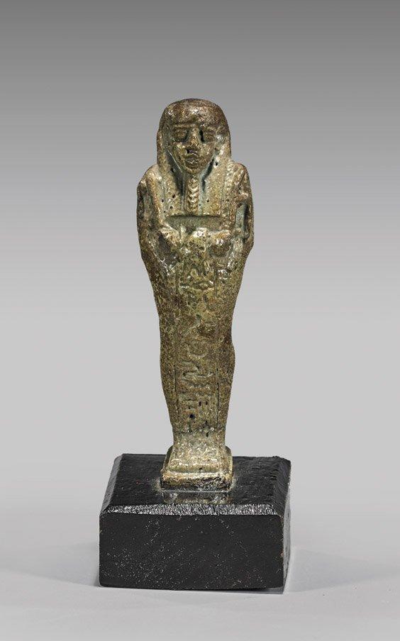 EGYPTIAN GLAZED FAIENCE USHABTI