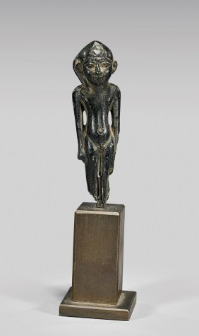 Egyptian Bronze Figure Of Harpokrates