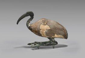 Egyptian-style Wood & Bronze Ibis