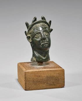 Roman Bronze Votive Head