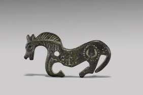 Early Medieval Bronze Horse Brooch Plate