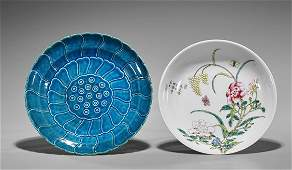 Two Qing-Style Porcelain Plates