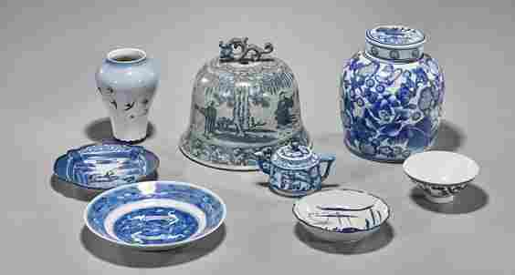 Group of Eight Blue & White Porcelains