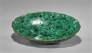 Large Inlaid Malachite Bowl