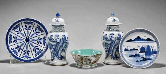 Five Old & Antique Chinese Porcelains