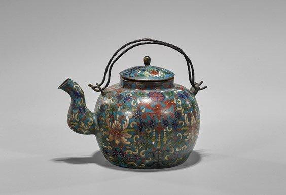 Chinese Cloisonné Enamel Teapot
