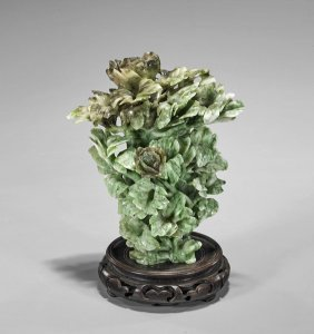 """Chinese Carved """"honan Jade"""" Vase"""