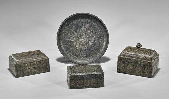 Four Middle Eastern Decorative Items