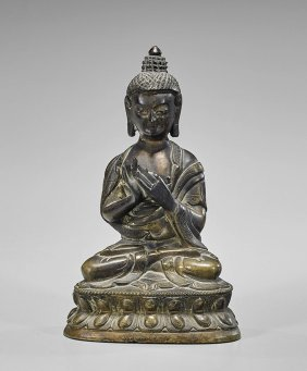 Ming Dynasty Bronze Seated Buddha