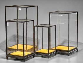 Four Hardwood & Chinese Display Cases