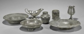 Seven Pieces Pewter Ware