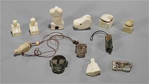 Twelve Chinese Jade/Hardstone Pendants