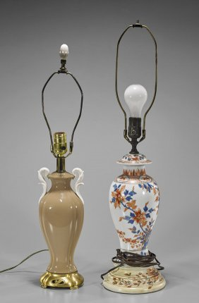Two Porcelain Lamps: Chinese & Continental