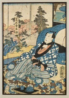 Five Antique Japanese Woodblock Prints